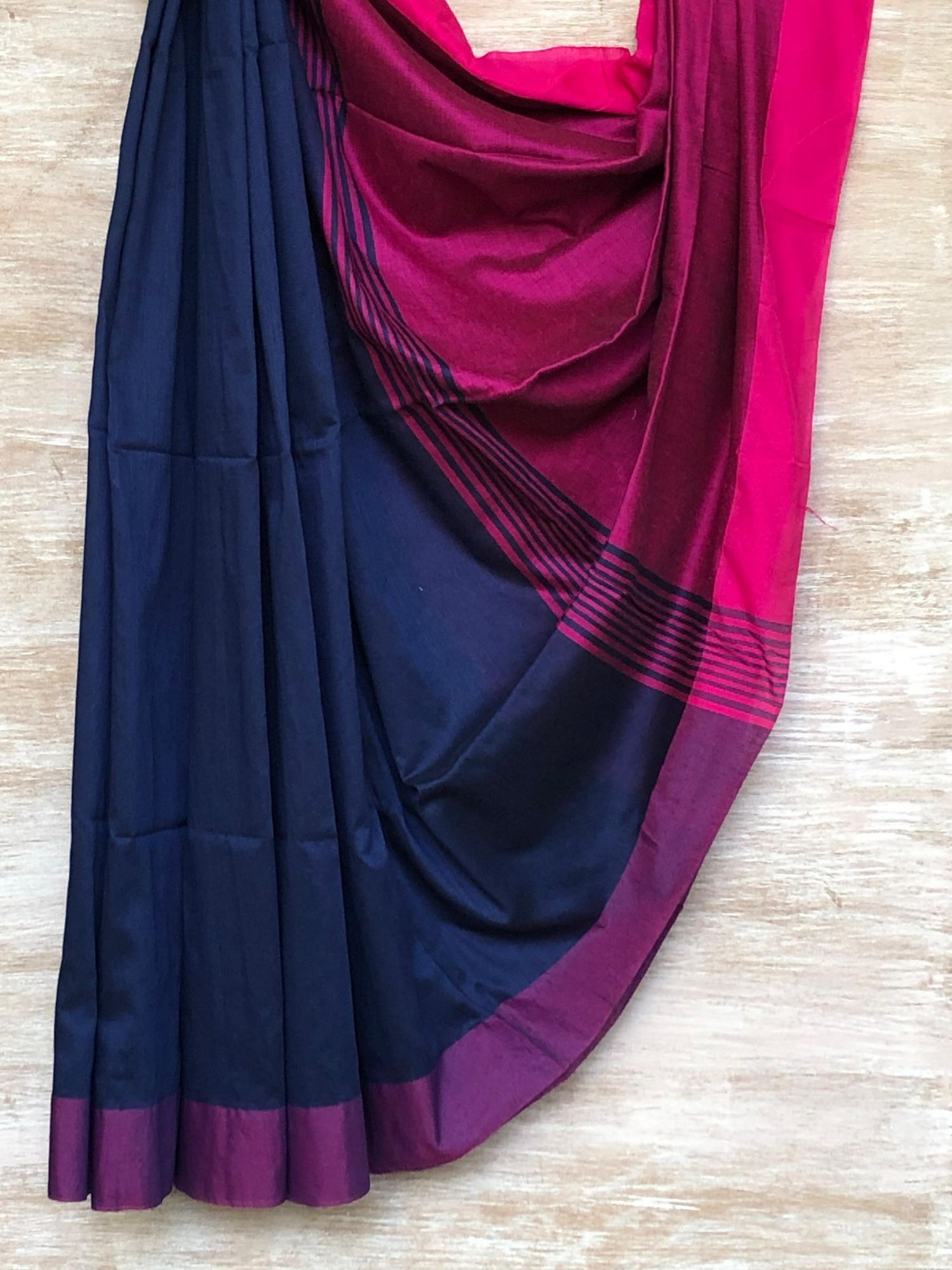 Blue and Pink Saree