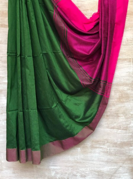 Green and Pink Saree